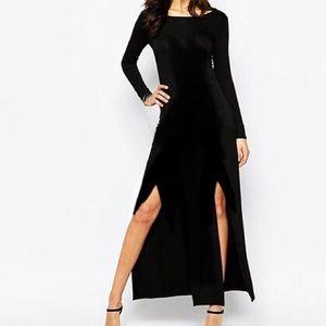 one clothing Double Split Long Sleeve Maxi Dress
